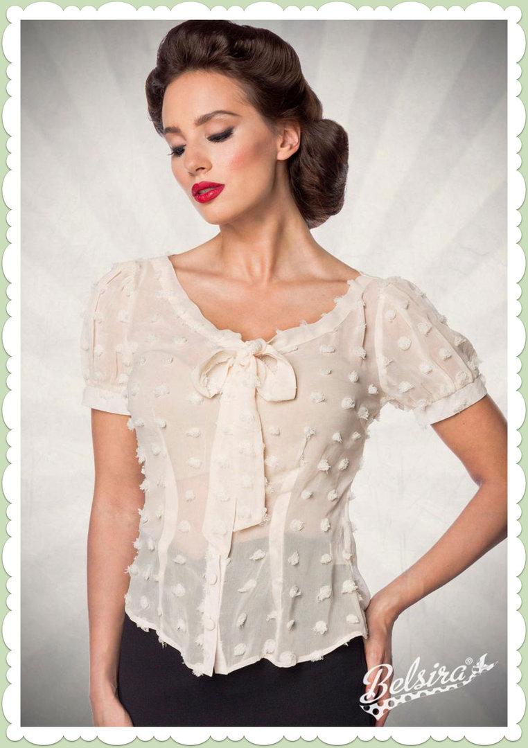 Belsira Damen Bluse Shirt 36 38 40 42 44 46 48 Rockabilly Retro Vintage