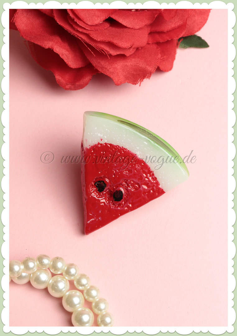 Miss Millinery 50s Pin Up Rockabilly Retro Haarclip - Watermelon