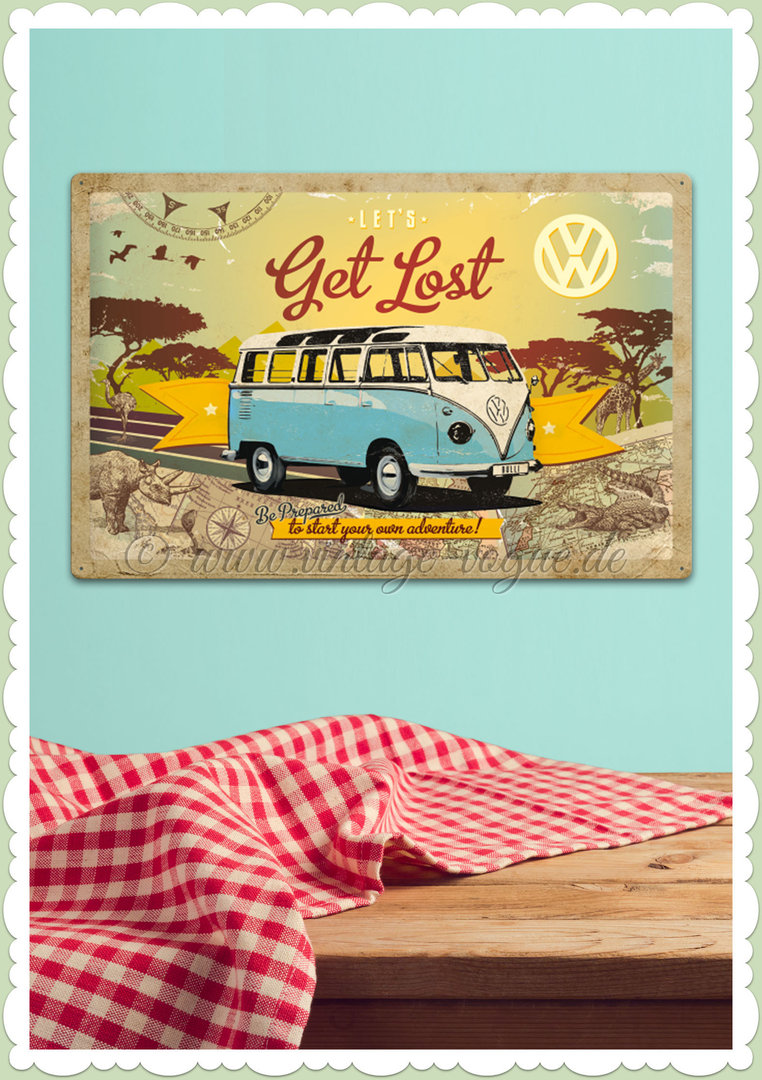 "Nostalgic Art Retro Blechschild ""VW Bulli - Let's Get Lost"""