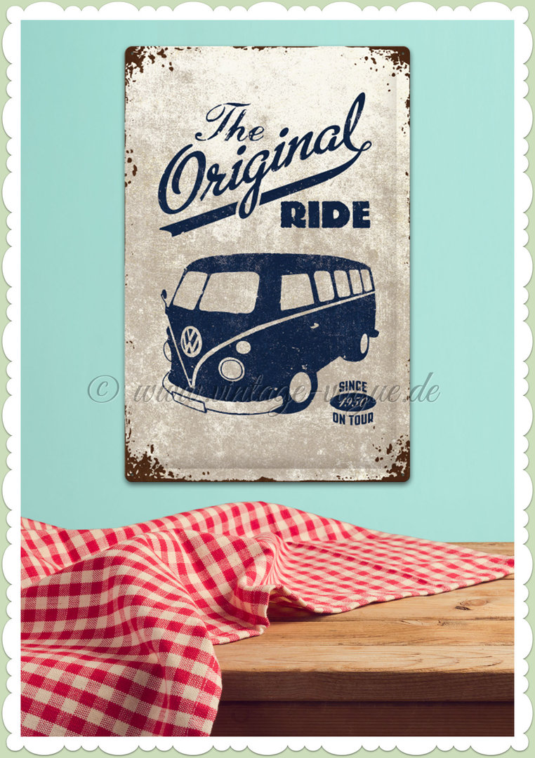 "Nostalgic Art Retro Blechschild ""VW Bulli - The Original Ride"""