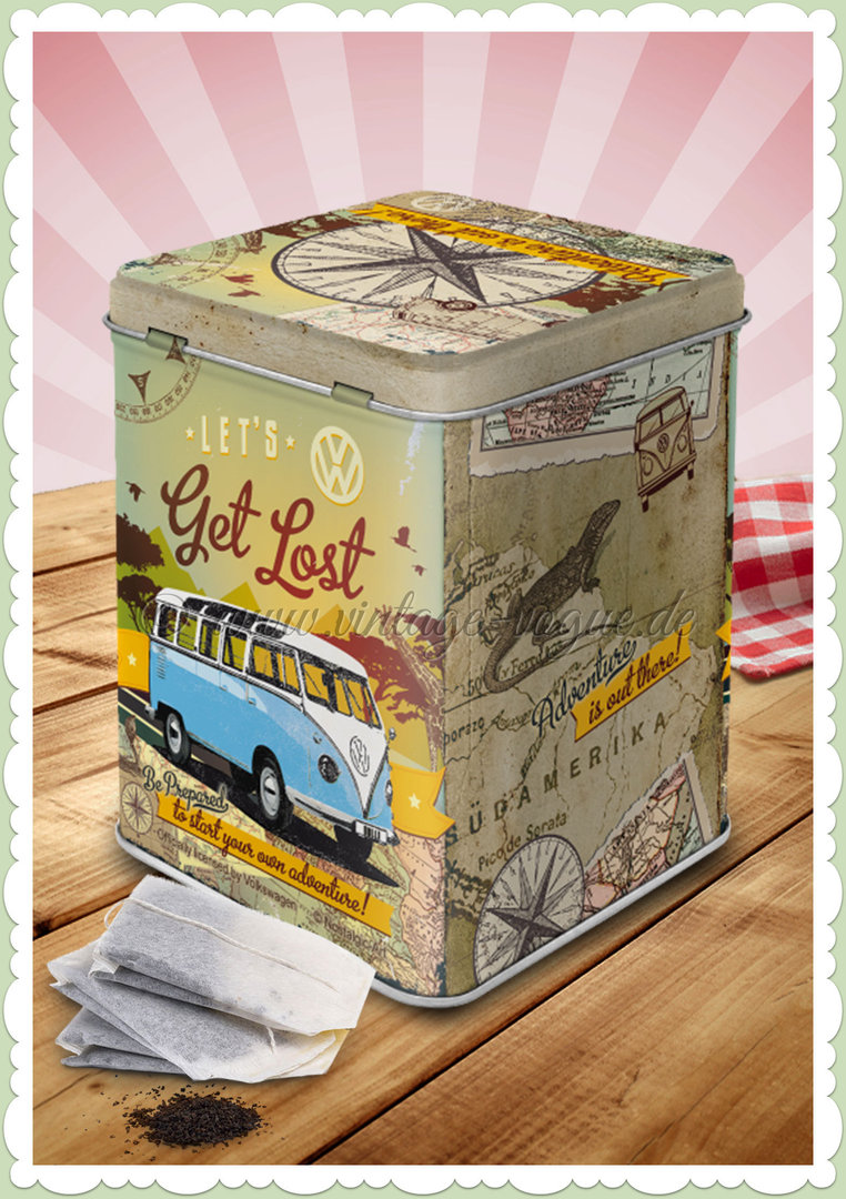 "Nostalgic Art Retro Teedose ""VW Bulli - Let's Get Lost"""