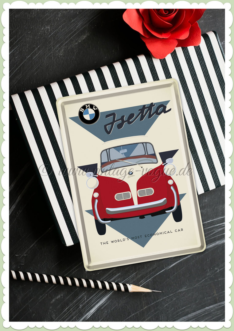 "Nostalgic Art Retro Blechpostkarte ""BMW - Isetta Economical Car"""