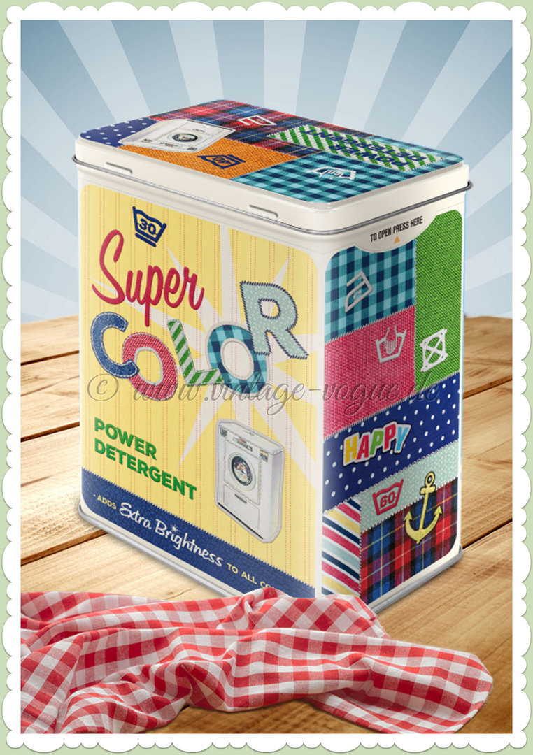 "Nostalgic Art Retro Vorratsdose L ""Super Color Detergent"""