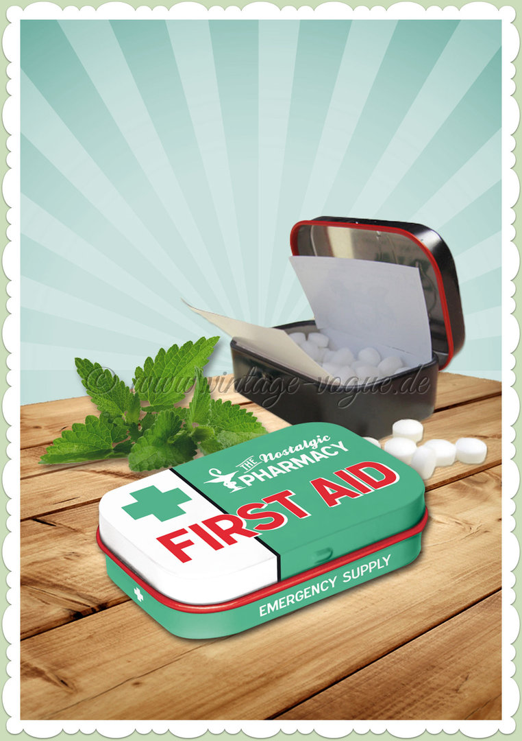 "Nostalgic Art Retro Vintage Pillendose ""First Aid Green"""