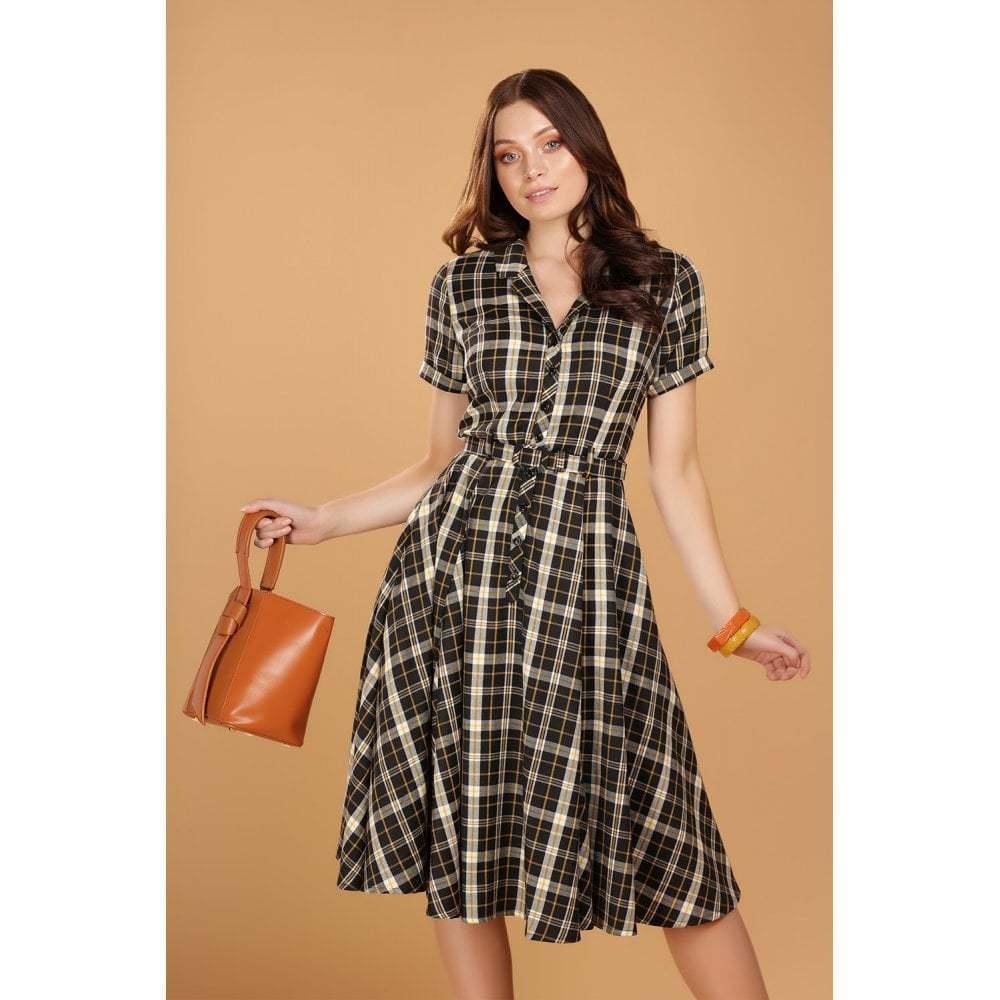 Collectif 40er Jahre Vintage Karo Kleid - Caterina Geek ...