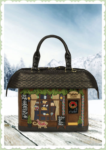 Vendula London 60er Jahre Retro Handtasche - Winter Cafe - Braun