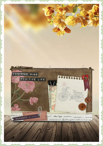 Vendula London 60er Jahre Clutch Tasche - Scrapbook Vintage Stationary