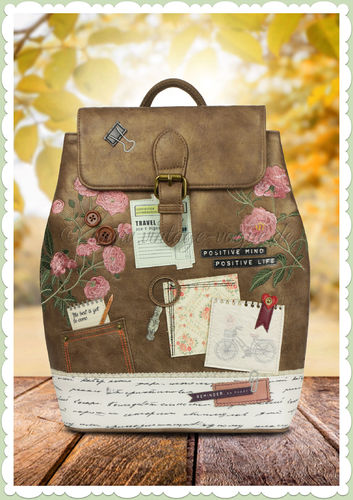 Vendula London 60er Jahre Rucksack - Scrapbook Vintage Stationary