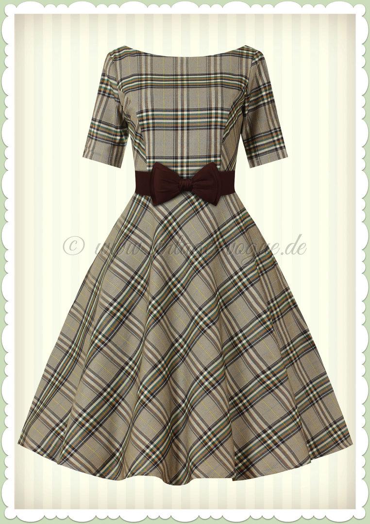 vintage plaid kleid
