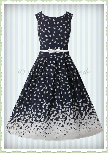 Dolly & Dotty 50er Jahre Rockabilly Vintage Kleid - Annie - Navy Blau