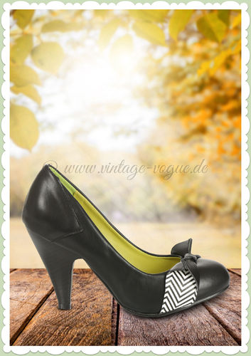 Banned 50er Jahre Rockabilly Schuhe Pumps - Touch of Grace Pump - Schwarz