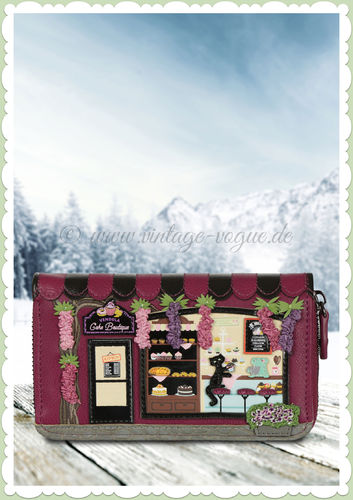 Vendula London 60er Jahre Retro Portmonnaie - Cake Boutique - Fuchsia