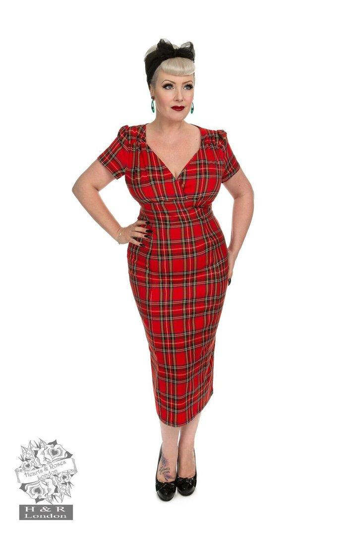 Hearts & Roses 50er Jahre Vintage Retro Etui Tartan Kleid ...