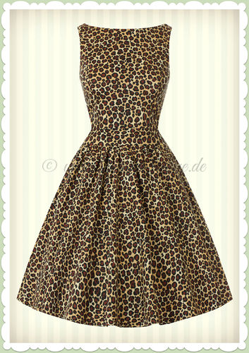 Lady Vintage 40er Jahre Vintage Retro Leoparden Kleid - Tea Dress - Leo