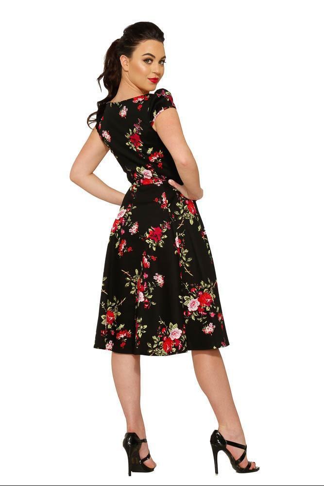 Hearts & Roses 50er Jahre Retro Rosen Petticoat Kleid