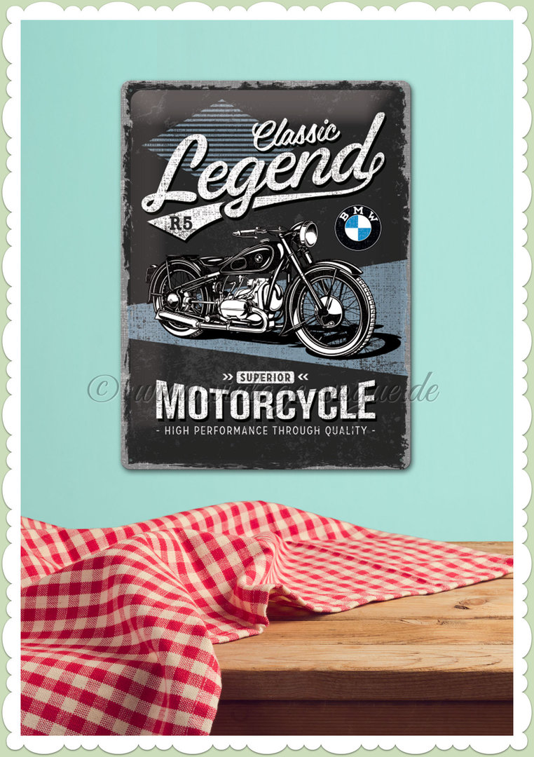 "Nostalgic Art Retro BMW Blechschild ""Classic Legend"""