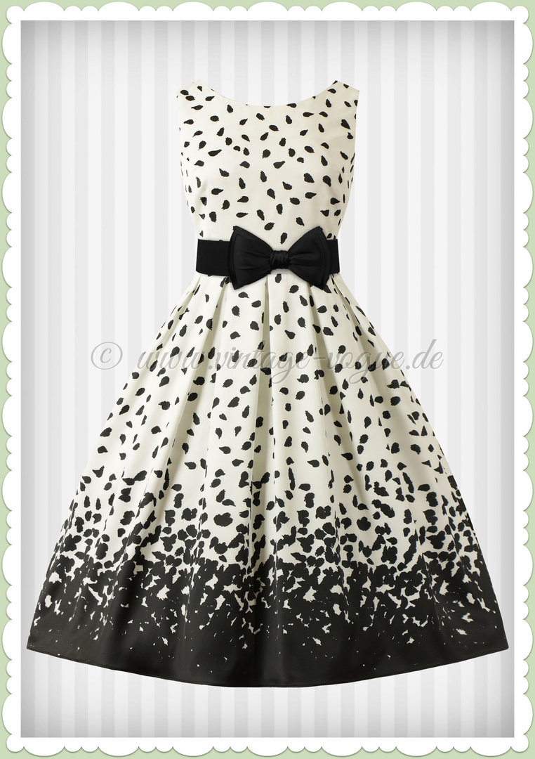 Dolly & Dotty 50er Jahre Rockabilly Vintage Punkte Kleid - Annie - Creme