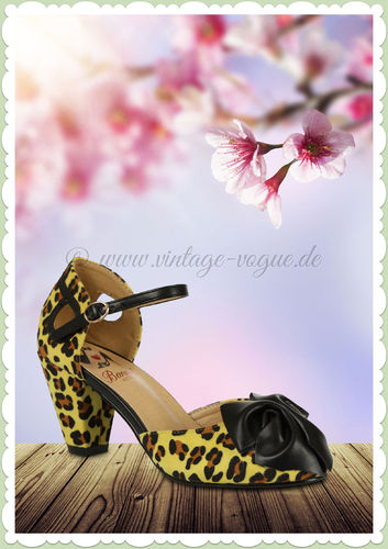 Banned 60er Jahre Rockabilly Vintage Leoparden Pumps - Into the Wild - Leo