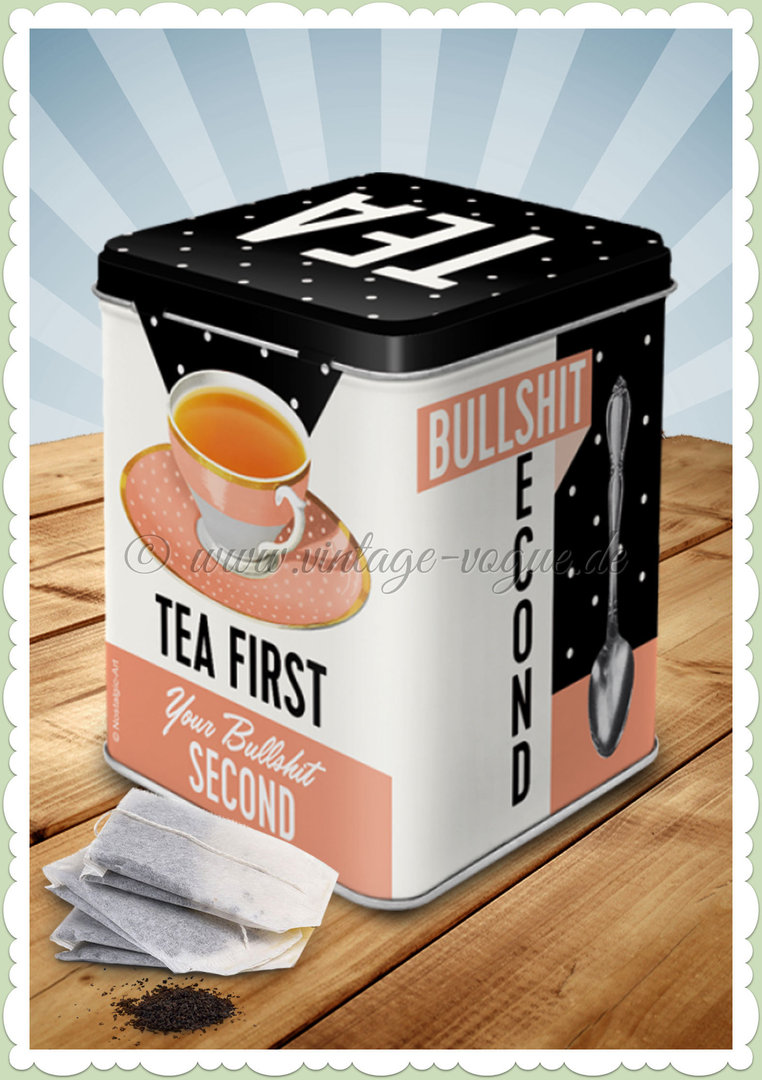 "Nostalgic Art Retro Say it 50's Teedose ""Tea First"""