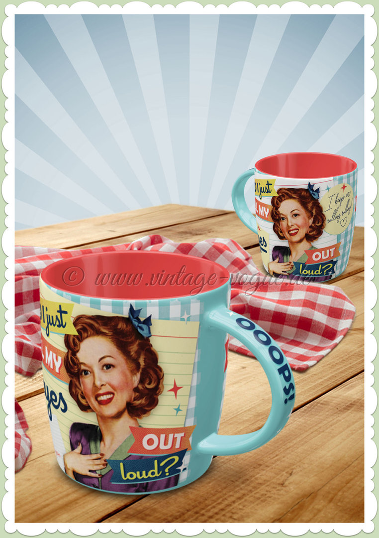 "Nostalgic Art Retro Tasse ""Did I just roll my Eyes out loud"""