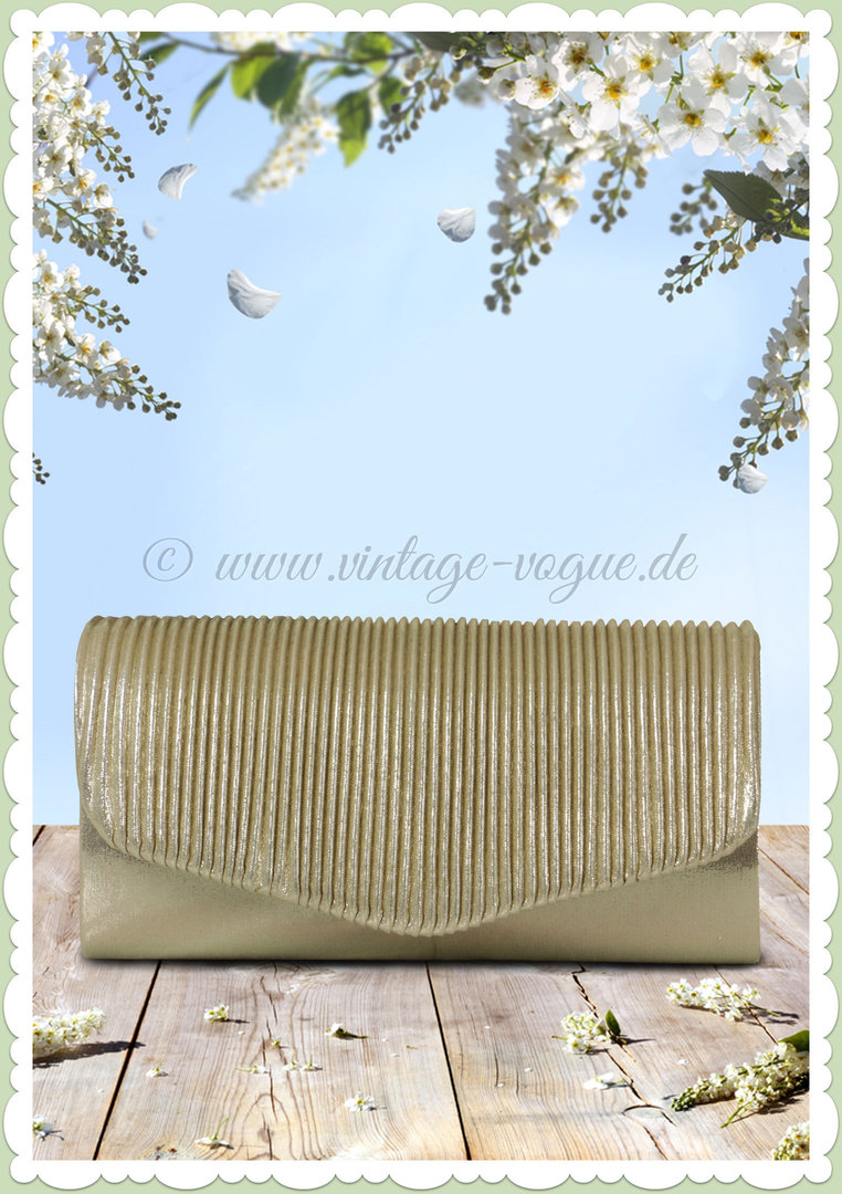 "Clayre & Eef Vintage Retro Clutch ""Golden Clutch"" - Gold"