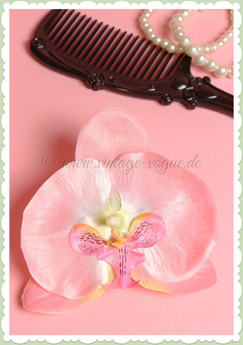 Lady Luck 50er Jahre Retro Vintage Haarblume Orchidee - Cece - Rosa