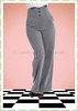 Banned 50er Jahre Rockabilly Marlene Hose - Girl Boss - Grau