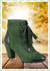 Collectif 50er Jahre Vintage Ankle Boot Stiefelette - Sellma - Grün