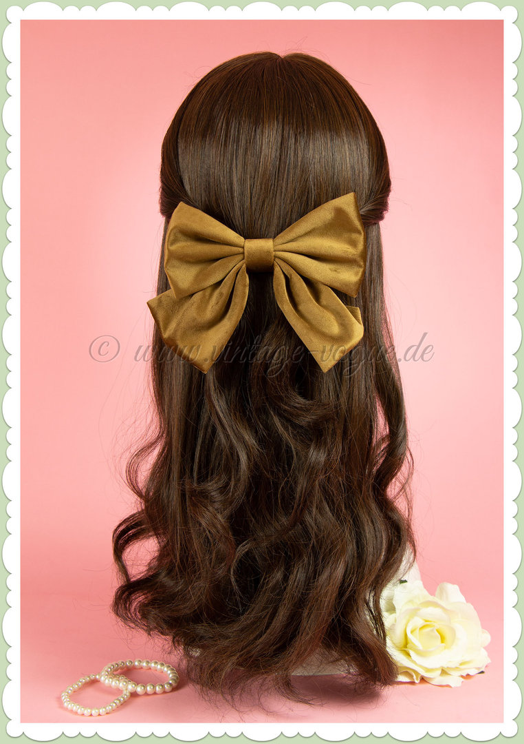 Miss Millinery 50er Jahre Rockabilly Vintage Haarschleife - Coffee