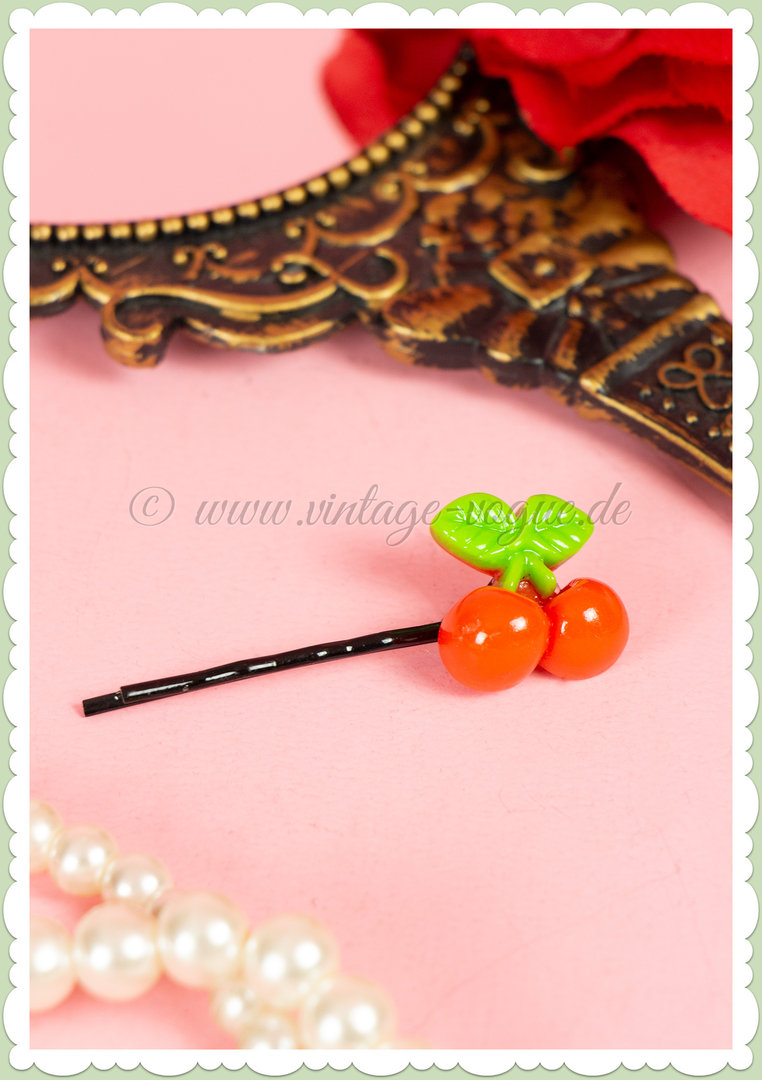 Miss Millinery 50s Pin Up Rockabilly Retro Kirschen Haarpin - Cherry